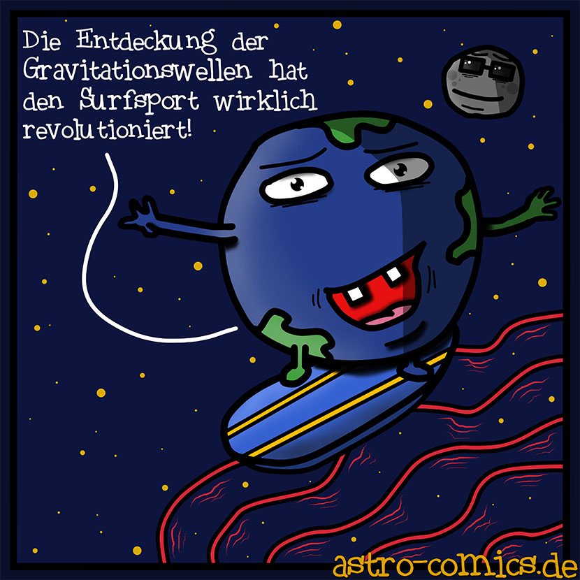 Astro-Comic Gravitationswellen